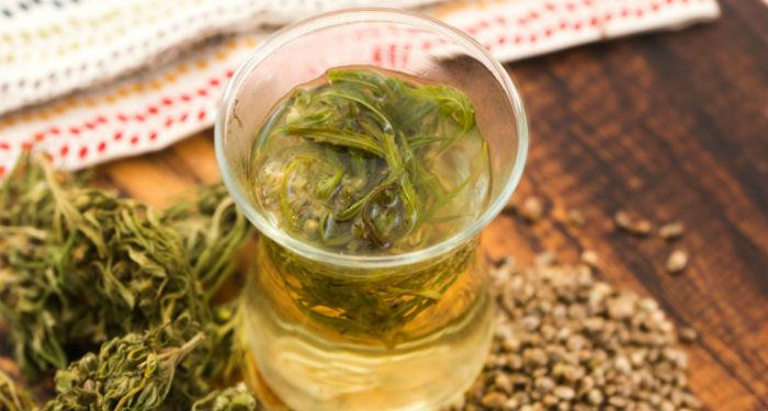 drinking weed tea effects