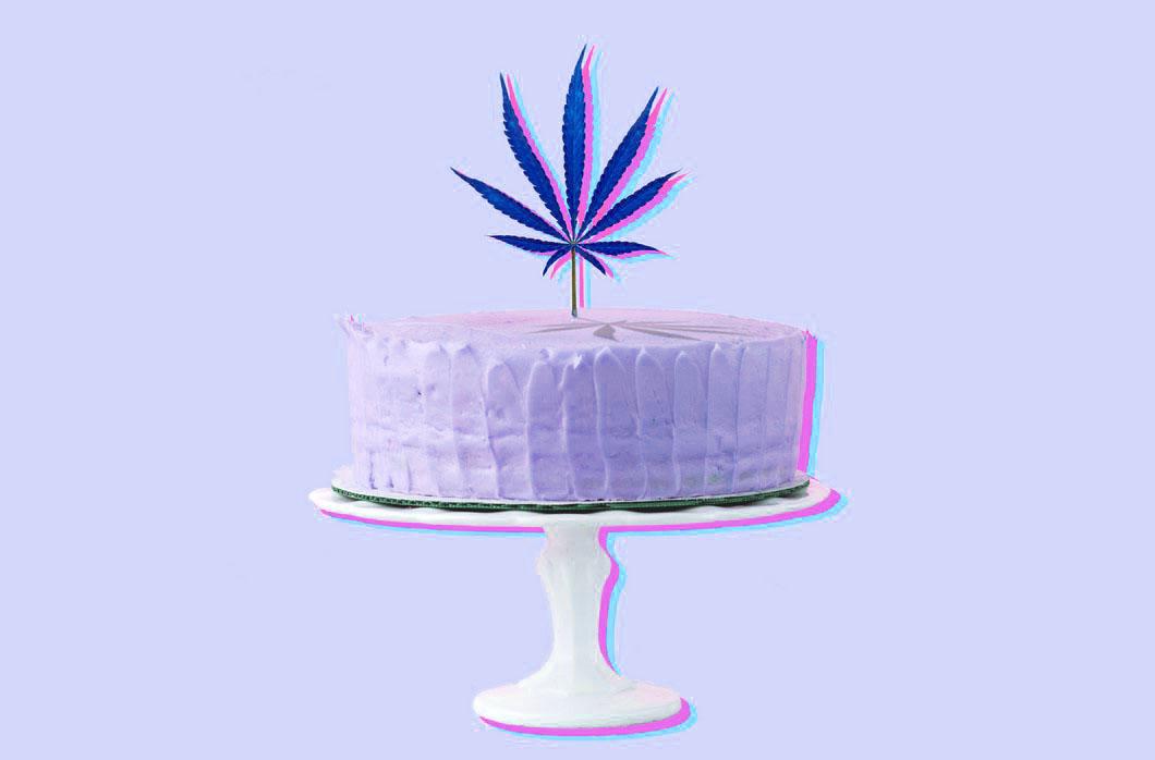 Weed Cake Recipe. Cannabis Birthday Cake