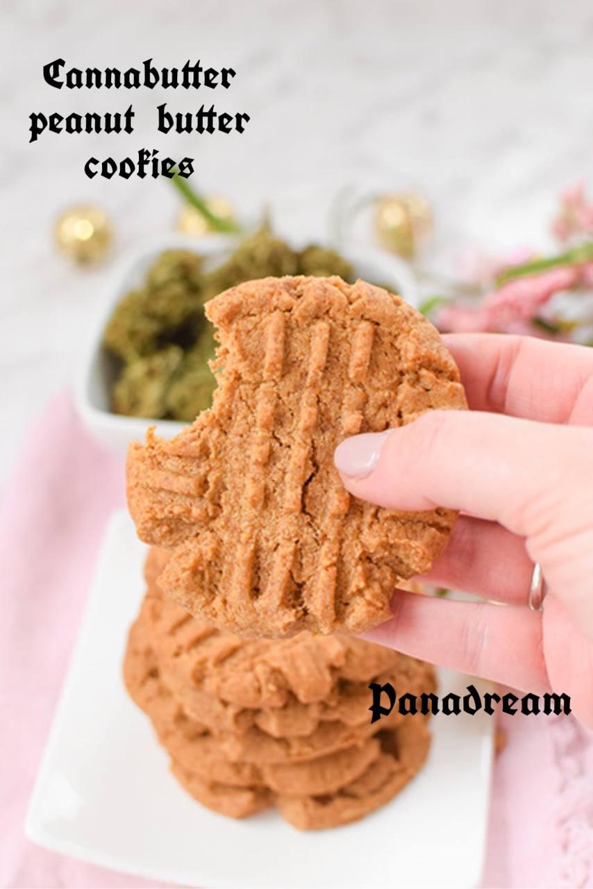 Cannabutter peanut butter cookies