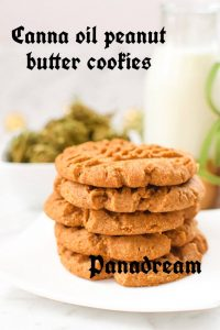 Canna oil peanut butter cookies