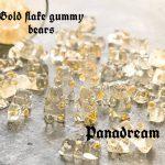 Gold flake gummy bears