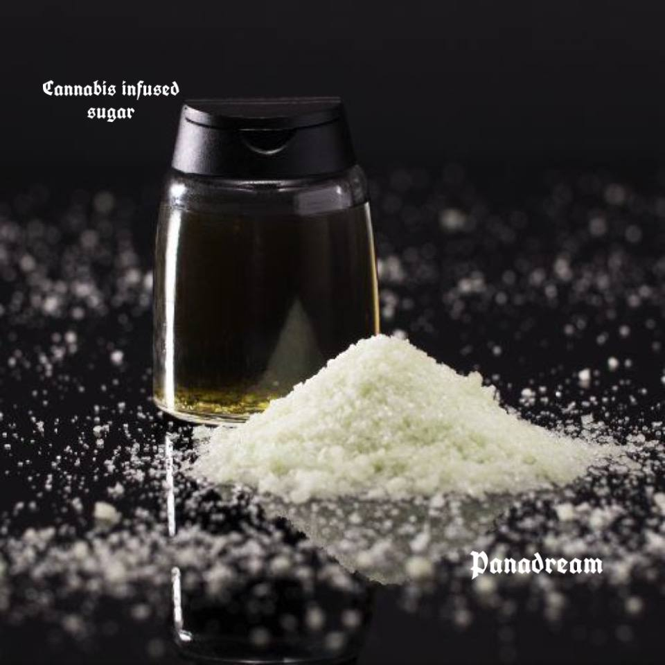 Cannabis infused sugar