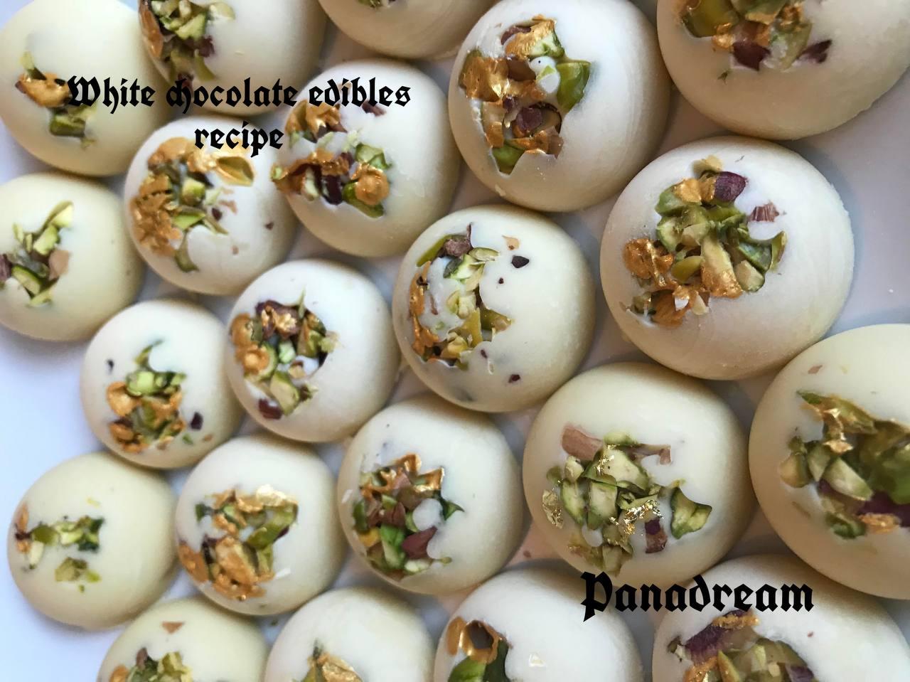 White chocolate edibles recipe