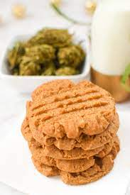 peanut butter cookies with cannabutter